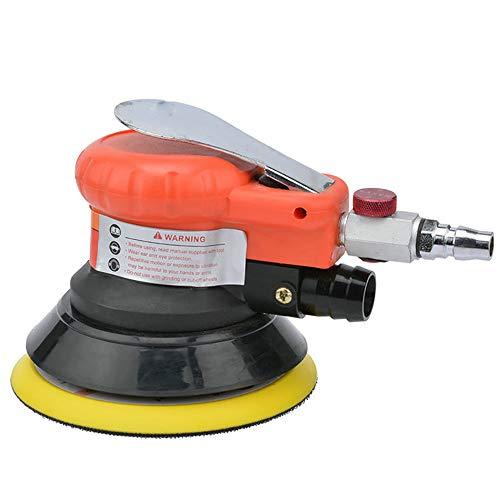 Pneumatische Schleifmaschine Polierwerkzeug Poliermaschine/Schleifpapier Reinigung, Autopflege, Entfernung von Rost, Graten, Möbeln, Metall-DD,Orange