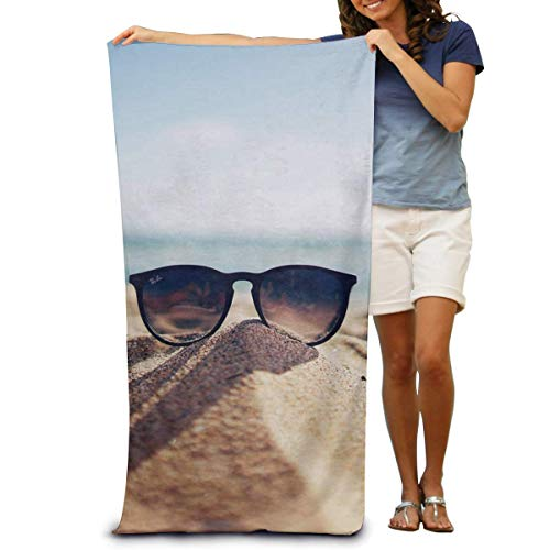 Toallas de Playa de Antiarena de Microfibra para Hombre Mujer, 130x80cm, Toallas Baño Calidad Gigante Secado Rapido para Piscina, Manta Playa, Toalla Yoga Deporte Gimnasio,Gafas