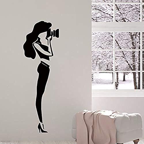 Wandtattoo Frau Wandaufkleber Mädchen Vinyl abnehmbare Kunst Interieur Schlafzimmer Foto Design Wohnkultur 42 x 130 mCM