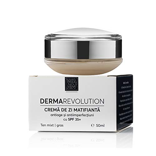 Wawa Fresh Cosmetics, Face, Anti-aging and anti-imperfection mattifying day cream with SPF 35+, 100% natural skincare, 50 ml