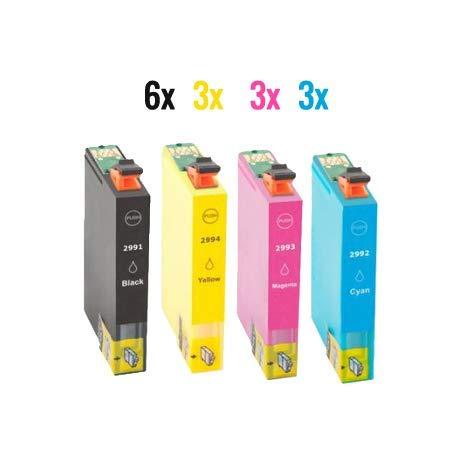 Paquete de 15 cartuchos compatibles Epson 29XL 29 para Epson XP-342 XP-442 XP-245 XP-432 XP-345 XP-247 XP-235 XP-255 XP-257 XP-352 XP-452 XP-455 XP-335
