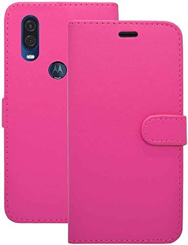 Preisvergleich Produktbild Handy Schutzhülle Kompatibel für Motorola Eins Vision Etui Klapp Ständer Kartenschlitz Kunstleder Magnetverschluss Hülle in Rosa