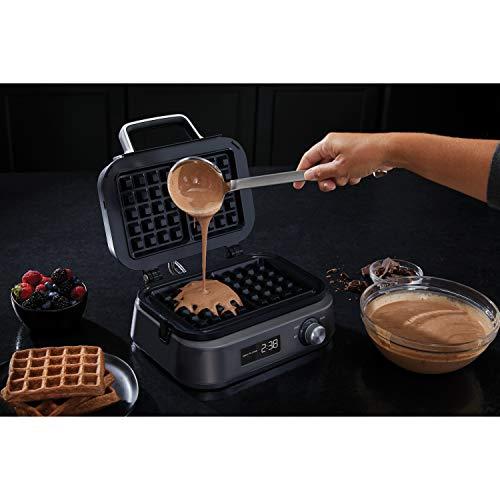 Calphalon Intellicrisp Waffle Maker, Dark Stainless Steel