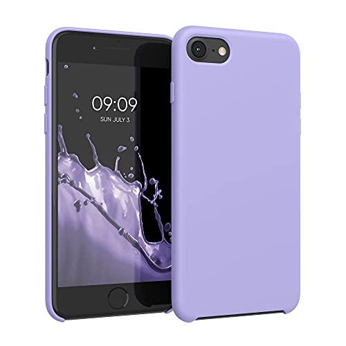 kwmobile Custodia Compatibile con Apple iPhone 7/8 / SE (2020) - Cover in Silicone TPU - Back Case per Smartphone - Protezione Gommata Lavanda