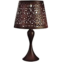 Paradise Lighting Brown Metal 17.32 In. H Table Lamp Outdoor Solar Decor