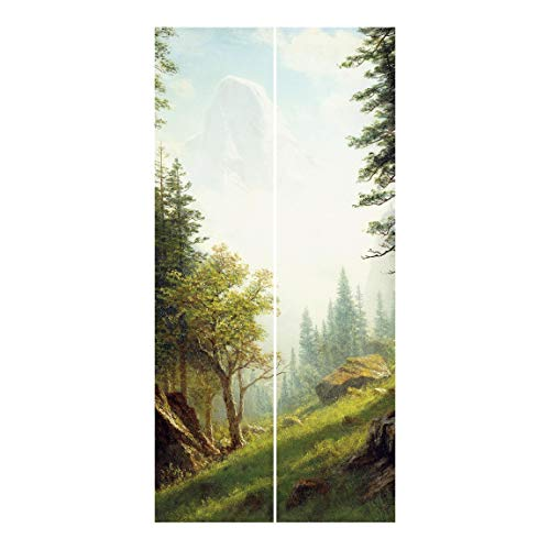 Bilderwelten Cortinas deslizables Set - Alps 2 Paneles japoneses Sin Montaje 250x120cm