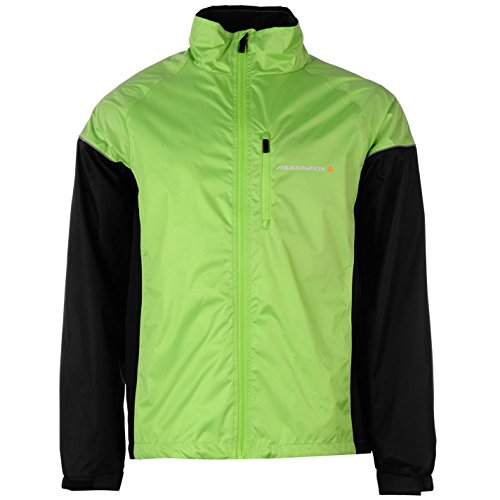 Muddyfox Mens Cycle Jacket Cycling Chest Pocket Lightweight Clothing Green/Black XL