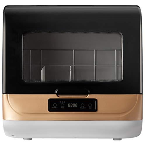 OCYE Geschirrspüler, tragbare Arbeitsplatte Geschirrspüler, 70 ℃ Hochtemperaturwäsche, 6 Sätze Geschirrkapazität, verwendet in Wohnung, Wohnwagen, Büro (golden)