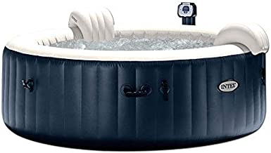 Intex PureSpa 85 Inch Portable Bubble Jet Spa 6 Person Inflatable Round Hot Tub