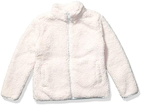 Amazon Essentials Girl's Polar Fleece Lined Sherpa Full-Zip Jacket, Light Pink, X-Small