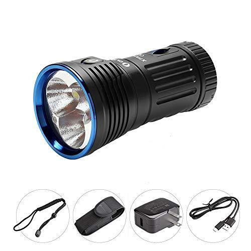 OLIGHT X7R Marauder LED Taschenlampe 12000 Lumen, Taschenlampen mit 380 Metern Leuchtweiter, 6 Leuchtmodi, Aufladbare Taschenlampe mit USB-C Anschluss, 4*18650 3000mAh Akku enthalten