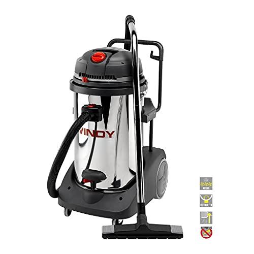 Lavor 8.248.0001 0001 0001 - Aspirador profesional de polvo y líquido Windy 378 IR 3000/3600 W 195 L/s 22/2200 Vacío kPa/mmH2O depósito 78 lt