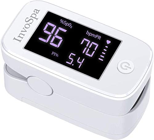 Pulse Oximeter Fingertip – Fathers Day Gift – Saturation Oxygen Monitor Fingertip (SpO2) – Finger Pulse Oximeter for Heart Rate Measurements – Portable Oxygen Meter – Oximetro with Batteries