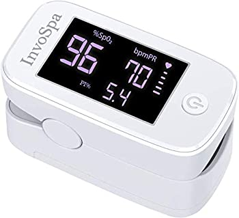 Pulse Oximeter Fingertip - Fathers Day Gift - Saturation Oxygen Monitor Fingertip  SpO2  - Finger Pulse Oximeter for Heart Rate Measurements - Portable Oxygen Meter - Oximetro with Batteries