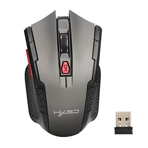 Computer X20 2,4 GHz 6-toetsen draadloze muis met USB-ontvanger (zwart) Eenvoudig te installeren (kleur: grijs)