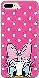 Carcasa de TPU Original Disney Daisy para iPhone 7 Plus, iPhone 8 Plus, Funda de Silicona líquida, Flexible y Delgada, Protectora para Pantalla, a Prueba de Golpes y antiarañazos