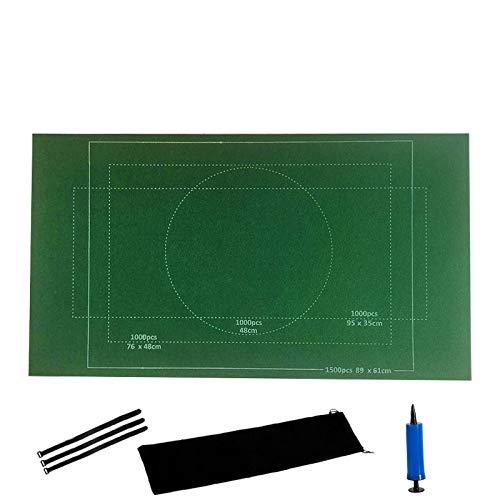 Walaka Tapis De Puzzle, Couverture en Feutre Enroulable pour Jusqu'à 1500 PièCes De Puzzle avec Ensemble d'Accessoires De Sac De Rangement Portable (Vert)