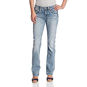 Silver Jeans Co. Women's Curvy Fit High Rise  Bootcut Jean