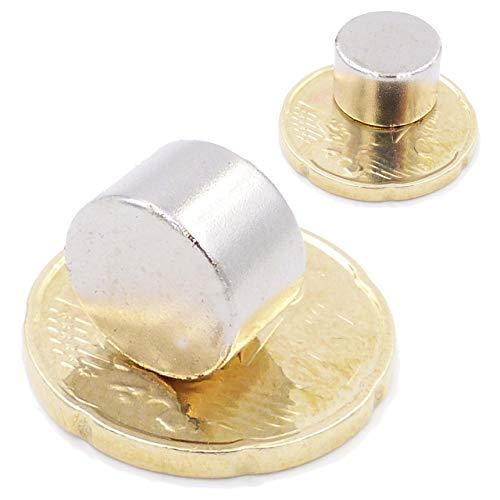Brudazon | 10 Mini Scheiben-Magnete 12x8mm | N52 stärkste Stufe - Neodym-Magnete ultrastark | Power-Magnet für Modellbau, Foto, Whiteboard, Pinnwand, Kühlschrank, Basteln | Magnetscheibe extra stark