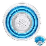 Lavadora, Winnes USB Plegable Lavadora Travel Camping Portátil Mini Turbina Pala de lavado aparatos de limpieza 12,60 x 12,60 x 9,84 pulgadas