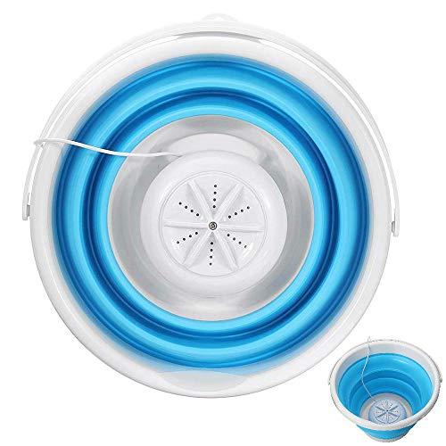 Wasmachine, Winnes USB, inklapbaar, reizen, camping, draagbaar, mini-turbine voor wasmachine, reinigingsgereedschap, 12,60 x 12,60 x 9,84 inch