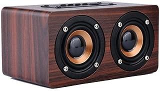 ArMordy(TM Retro Wood Wireless Bluetooth Speaker Portable Speaker Bluetooth altavoz m in i 3D Dual Loudspeakers USB Charging Enceinte