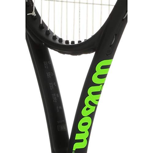 Wilson Tennisschläger, Blade 25, Kinder bis zu 10 Jahren, Graphit, schwarz/grau/lime, WR014410U