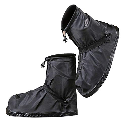 Life-C Black Waterproof Snow Rain Shoes Covers Women Men XXL