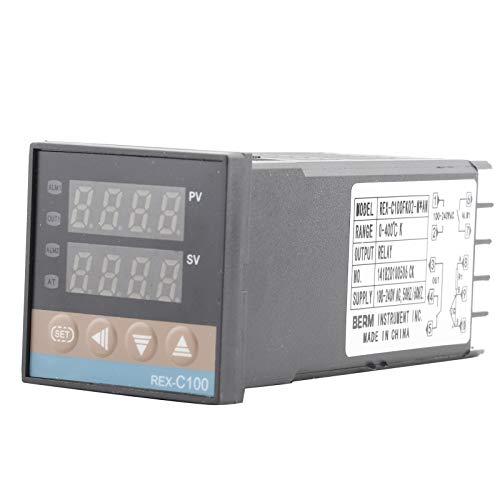 Controlador de temperatura Termostato PID digital REX-C100 Termopar para moldeo por inyección de productos químicos, etc.