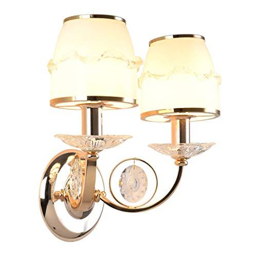 A-ZHP W. Lámpara de Pared, LED de Cristal Sala Fondo de la Pared Moderna Simple del Dormitorio del Hotel Balcón Escalera lámpara de cabecera de la lámpara de Pared [Clase de energía A ++]