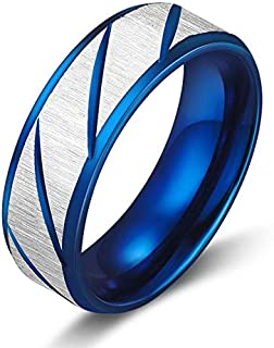 خاتم رمادي/ازرق