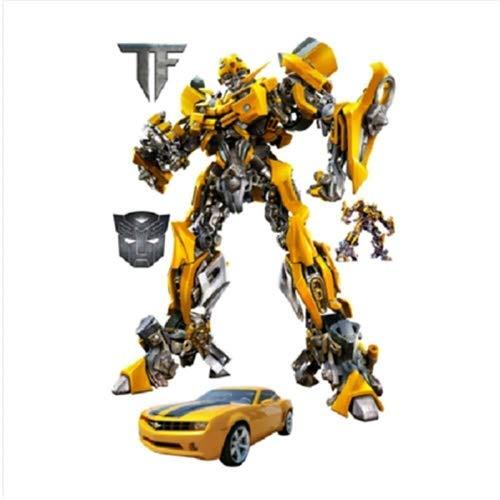 LCFF Wandtattoo 3D Wandaufkleber Aufkleber Surper Held Bumblebee Transformers Roboter Optimus Prime Anime Tapeten Tapeten dekorative Selbstklebende Chilsren-Raum-Wand-Dekor 60x40cm (Color : M)