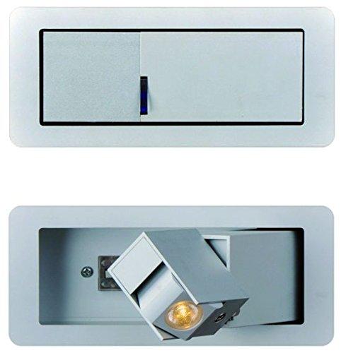Exo Lighting Lesing Plaf Lari Ø45LED 18W 3240LM 3000K BL, LED Sockel, satiniert, Alum.