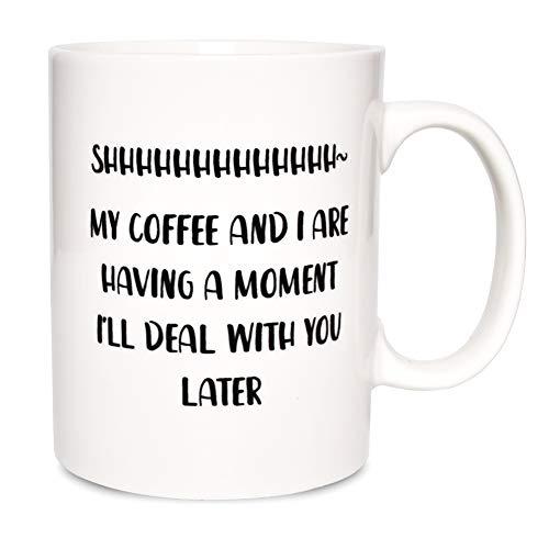Bosmarlin Large Funny Mug Gift for Coffee Lover, Big Humor Cup Office Worker , 17.5 Oz, Dishwasher...