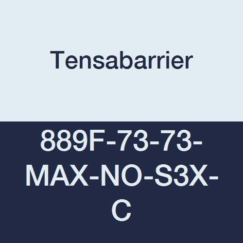 Tensabarrier discount 889F-73-73-MAX-NO-S3X-C Fresno Mall Post 13' Stripe Length Bla