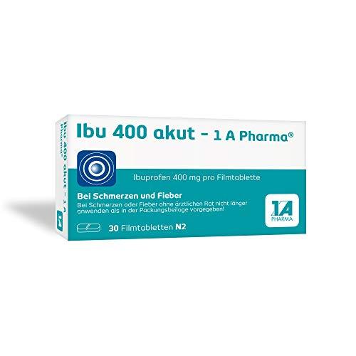 Ibu 400 akut - 1 A Pharma, 400 mg Tabletten mit Ibuprofen (30 Stck.): Bei Schmerzen und Fieber