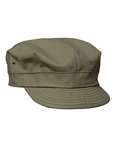 Mil-Tec US HBT Mütze WW2 Outdoor Feldmütze Army Mütze Summercap Cappie Sportcappie Kappe Oliv S-XXL (XXL)