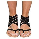 cooki Sandals for Women Casual Summer Comfy Zipper Flat Sandals Beach Travel Sandals Shoes Women s Sandals Flip Flops Black