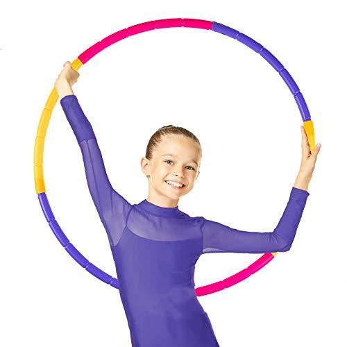NEOWEEK Hoola Hoop for Kids, Detachable Adjustable Size Kids Hoola...