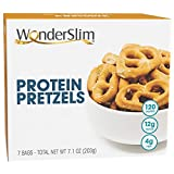 WonderSlim High Protein Pretzel Snacks - Low-Carb Diet Healthy 12g Protein Snack For Weight Loss - 3 Box Value Pack (Save 10%)