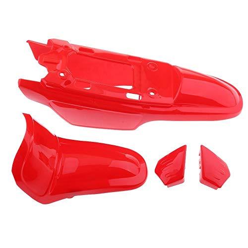 Funda de plástico de plástico de Motocicleta Conjunto de Kit de Guardabarros/Ajuste para Yamaha PW50 PY50 Peewee 50 Agua Y PROPUESTOR DE Polvo (Color : Red)