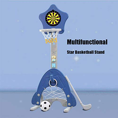Find Discount FANGX Multifunctional Kids Basketball Stand,Portable Basketball Hoop Indoor Outdoor Ho...