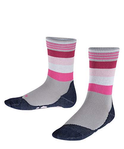 FALKE Kinder Socken Active Fox, Baumwollmischung, 1 Paar, Grau (Silver 3290), Größe: 35-38