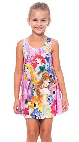 Disney niñas princesa en el jardín vestido de impresión allover