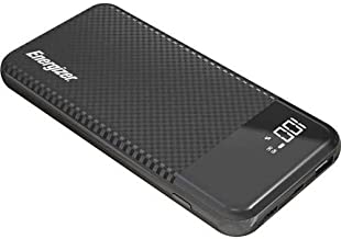 Energizer ULTIMATE 18W Fast Charging, High Capacity 10000mAh Lithium Polymer, 1 USB-A and 1 USB-C, LCD Power Bank w/ Power Delivery 3.0, Quick Charge 3.0 for iPhone, Samsung, and More UE10037