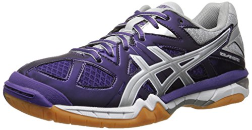 ASICS Women's Gel Tactic Volleyball Shoe, Purple/Silver/White, 8 M US