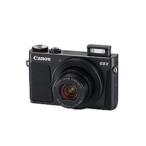 Canon PowerShot G9 X Mark II Kompaktkamera (20,1 MP, 7,5cm (3 Zoll) Display, WLAN, NFC, 1080p, Full HD) schwarz