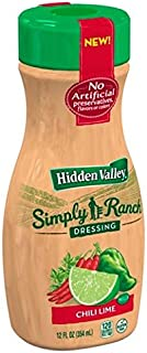 Hidden Valley Simply Ranch Dressing Chili Lime 12 oz (Pack of 3)