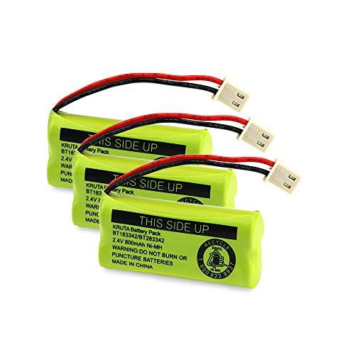 Kruta BT183342 BT283342 BT166342 BT266342 BT162342 BT262342 Battery Compatible with VTech CS6114 CS6419 CS6719 AT&T EL52300 CL80112 VTech CS6719-2 Cordless Handsets (Pack of 3)