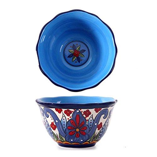 6 pulgadas profunda plato de porcelana pintada a mano, Inicio de fruta Ensaladera, creativo restaurante Vajilla...